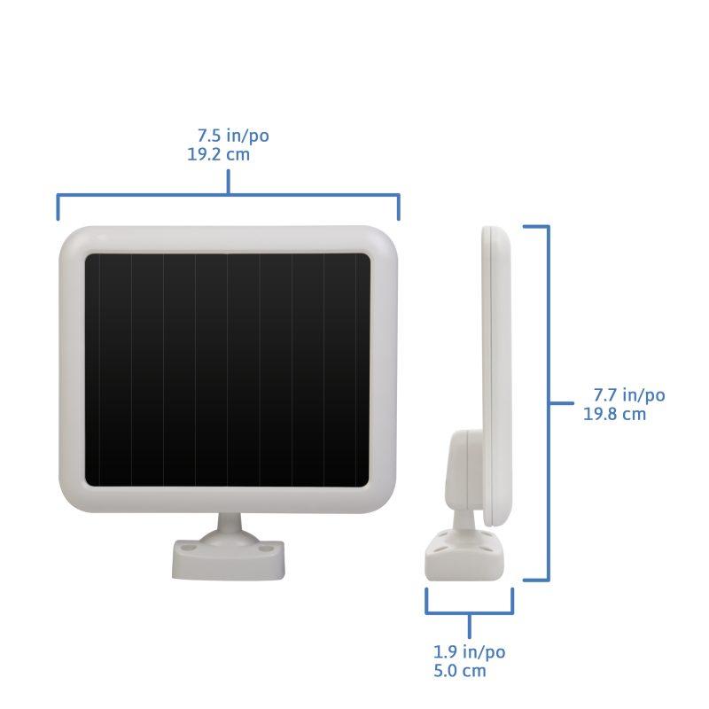 Lampe solaire d tecteur de mouvement 100 del sunforce - Lampe detecteur de mouvement solaire ...