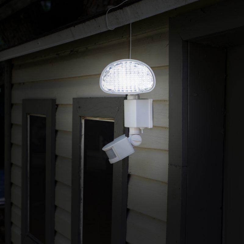 Lampe solaire d tecteur de mouvement 45 del sunforce - Lampe detecteur de mouvement solaire ...
