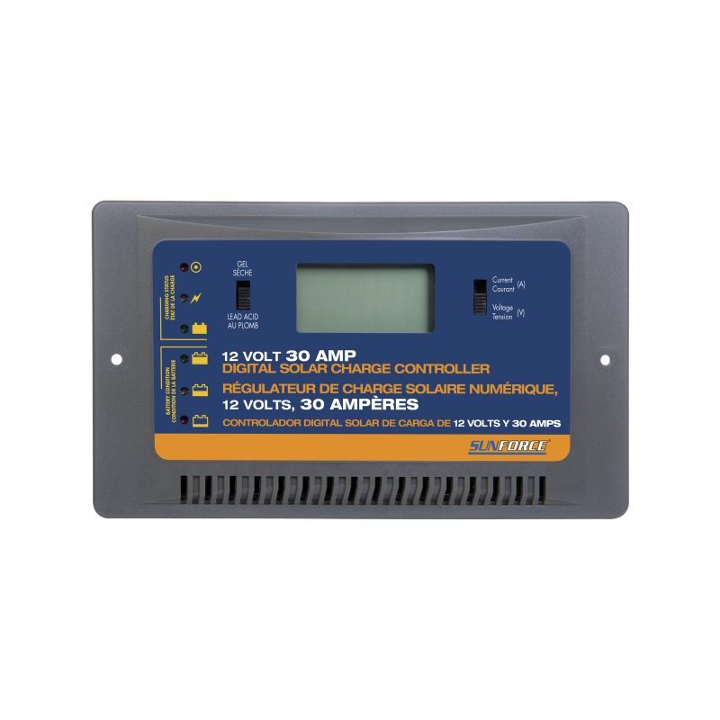 30 amp 12 volt digital solar charge controller sunforce products inc rh sunforceproducts com