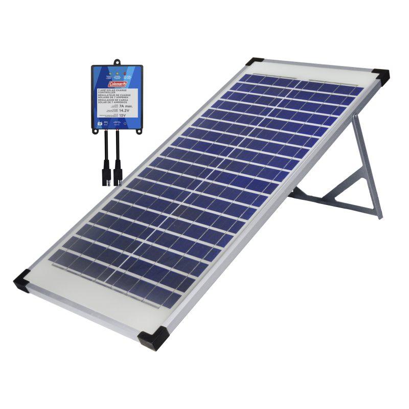 Coleman solar panel hookup