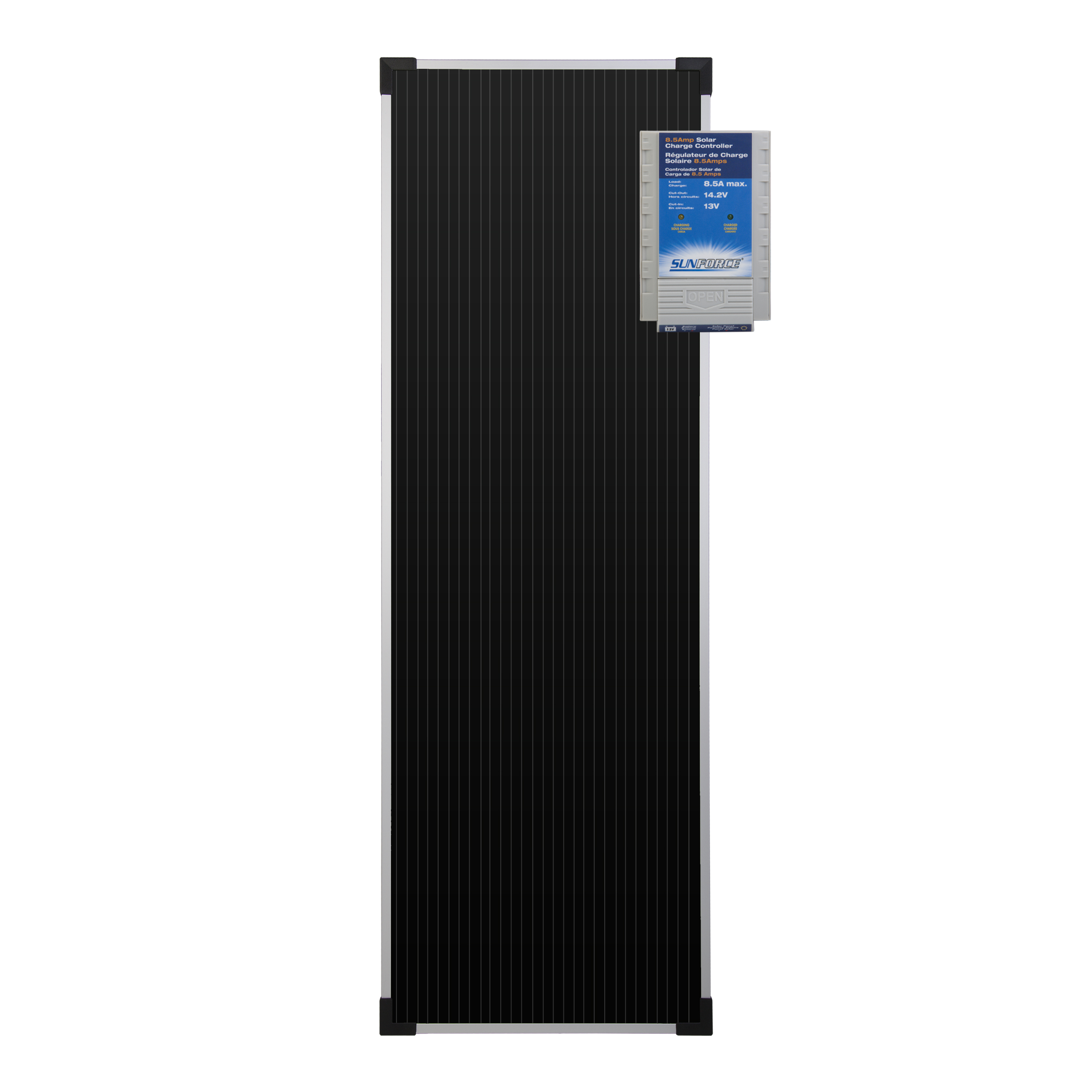 20 Watt 12 Volt Solar Battery Charger With 8 5 Amp Charge