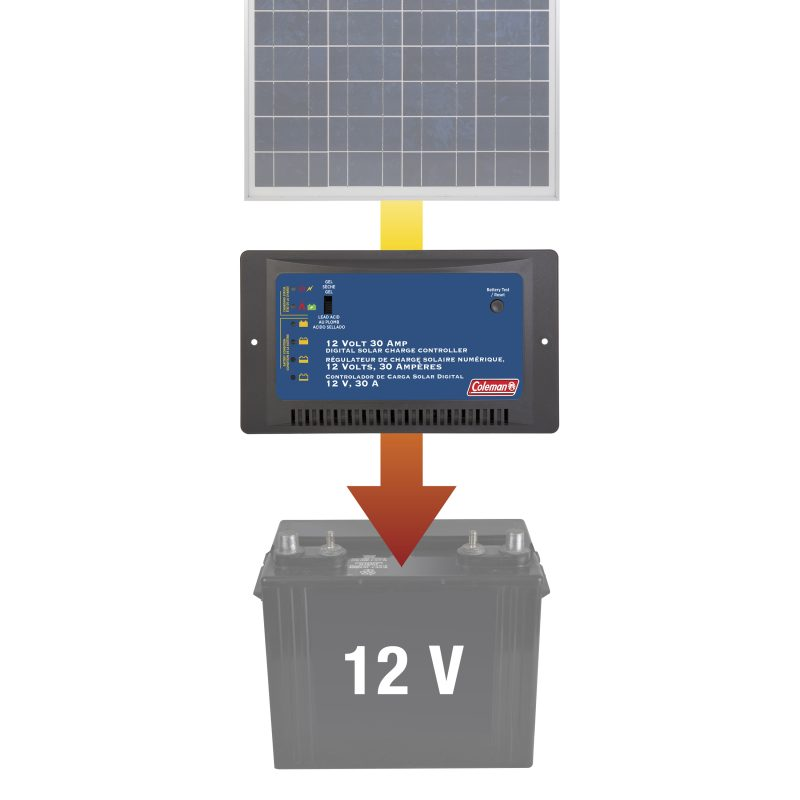 coleman 7 amp solar charge controller manual
